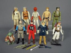 Star Wars - Ten unboxed action figures to include Endor Rebel Soldier ©LFL 83 Hong Kong,