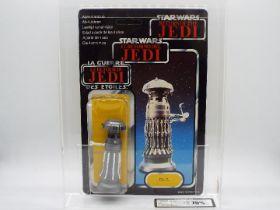 "Star Wars, Palitoy - A graded Palitoy 1983 Star Wars ROTJ Tri Logo 'FX-7' 3 3/4""action figure."