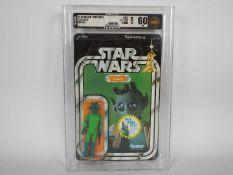 "Star Wars, Kenner - A rare graded Kenner 1978 Star Wars 'Greedo' 3 3/4""action figure."
