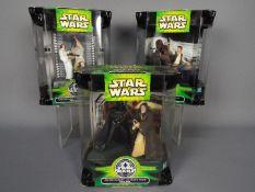 Star Wars, Hasbro - Three Star Wars 2002 25th Silver Anniversary Dual Figure Sets.