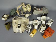 Star Wars - Kenner - A collection of 10 x vehicles in play worn condition for spares or restoration