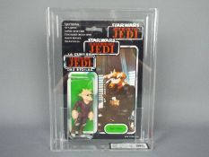 """Star Wars, Palitoy - A graded Palitoy 1983 Star Wars ROTJ Tri-Logo 'Ree-Yees' 3 3/4"""" action figure."""