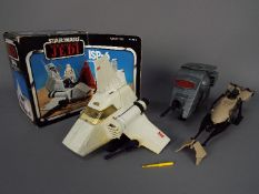 Star Wars - A boxed Mini-Rig ISP-6, an unboxed INT-4 and an unboxed Speeder Bike,