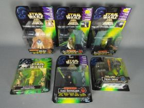 Star Wars, Kenner , Hasbro - Six boxed Star Wars action figure sets from various series.
