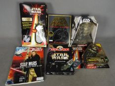 Hasbro - A collection of 6 x boxed / carded items including Episode I View Comm Walkie Talkies,