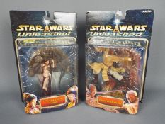 """Star Wars - Hasbro - 2 x 8"""" figures from the Unleashed series dated 2002. Princess Leia # 84936."""