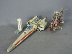 Hasbro - A Revenge Of The Silth Wookie Flyer with two figures, an X Wing Fighter.