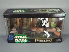 """Star Wars - Hasbro - The Power Of The Force Speeder Bike with Scout Trooper in 12"""" scale from the"""