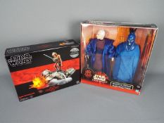 Star Wars, Hasbro - Two boxed Star Wars action figure sets by Hasbro.