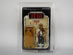 "Star Wars, Kenner - A graded Kenner 1983 Star Wars ROTJ 'Prune Face' 3 3/4""action figure."