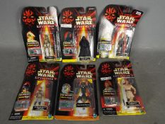Hasbro - Star Wars - A collection of 6 x unopened carded Episode 1 figures all with Comm Tech