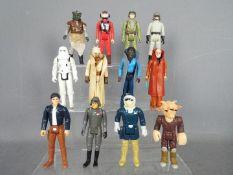 Star Wars, Kenner, Hasbro, LFL, CPG, GMFGI - A muster of 12 loose vintage Star Wars figures.