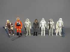 Star Wars - A collection of loose action figures comprising 2 x AT-AT Driver ©LFL 1980 Made In Hong