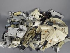 Star Wars - Kenner - A collection of spare parts for vintage models including Millennium Falcon,