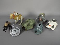 Kenner - A group of vehicles including MLC-3 Mobile Laser Canon, Jedi Speeder Bike,