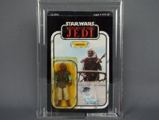 """Star Wars, Kenner - A graded Kenner 1983 Star Wars ROTJ 'Weequay' 3 3/4"""" action figure."""