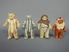 "Kenner - 4 x loose 3.75"" Ewok figures, Chief Chirpa, Paploo, Logray, Teebo."
