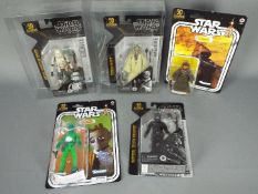 """Star Wars, Kenner - Five boxed Star Wars 50th Anniversary 6"""" action figures."""
