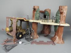 Kenner - An unboxed 1991 Ewok Village play set with Battle Wagon,