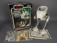Star Wars - Miro-Meccano - A boxed Spanish made Scout Walker Vehicle with hand operated walking