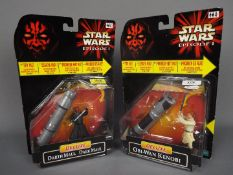 Star Wars - Hasbro - 2 x carded Episode I Deluxe figures, Darth Maul # 84144,
