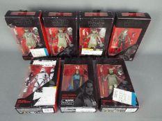 "Star Wars, Hasbro - Seven boxed Hasbro Star Wars 'The Black Series' 6"" action figures."