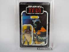 "Star Wars, Palitoy - A graded Palitoy 1983 Star Wars ROTJ 'Klaatu' 3 3/4""action figure."
