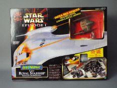 Star Wars - Hasbro - A boxed Episode I Electronic Naboo Royal Starship Blockade Cruiser Playset.