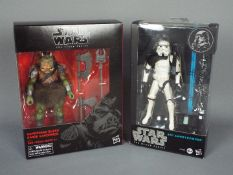 """Star Wars, Hasbro - Two boxed Hasbro Star Wars 'The Black Series' 6"""" action figures."""