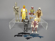 Star Wars - Six unboxed Empire Strikes Back bounty hunter action figures comprising Dengar ©1980