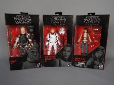 Star Wars, Hasbro - Three boxed Hasbro Star Wars 'The Black Series' 62 action figures.