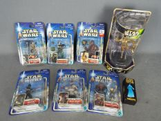 Hasbro - Kenner - A collection of 8 x unopened carded and boxed figures including Djas Puhr,
