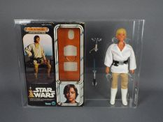 "Star Wars, Kenner - A custom graded Kenner 1978 Star Wars 'Luke Skywalker' large 12"" action figure."