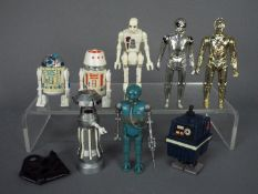 Star Wars - A collection of unboxed droid action figures comprising R2-D2 (With Sensorscope) ©GMFGI
