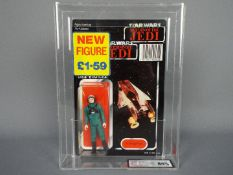 """Star Wars, Palitoy - A rare Palitoy 1985 Star Wars ROTJ Tri Logo 'A-Wing Pilot' 3 3/4""""action figure."""