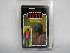 "Star Wars, Palitoy - A graded Palitoy 1983 Star Wars ROTJ 'Walrus Man' 3 3/4""action figure."