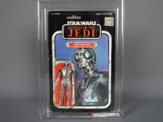 "Star Wars, Kenner - A graded Kenner 1983 Star Wars ROTJ 'Death Star Droid' 3 3/4"" action figure."