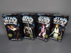 """Kenner - 4 x boxed Collector Series 12"""" figures in display boxes including # 27725 Han Solo,"""