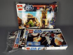Lego - 2 x boxed sets, # 7674 V-19 Torrent, # 9516 Jabba's Palace.