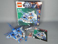 Lego - A boxed Gungan Sub with Queen Amidala, Qui-Gon Jinn and Jar Jar Binks figures. #9499.