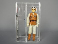 Star Wars - A loose vintage and graded Star Wars TESB 3 3/4 action figure 'Rebel Soldier' .