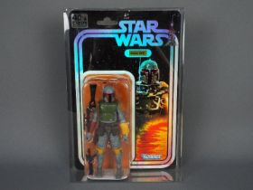 Star Wars, Kenner - A rare boxed foil backed Star Wars 40th Anniversary 'Boba Fett 'action figure.