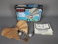 Star Wars - A boxed, vintage Return Of The Jedi Ewok Combat Glider with instructions,