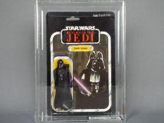"""Star Wars, Kenner - A graded Kenner 1983 Star Wars ROTJ 'Darth Vader' 3 3/4"""" action figure."""