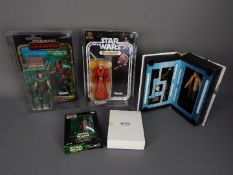 Star Wars, Hasbro - Four boxed Hasbro Star Wars action figures from various ranges.