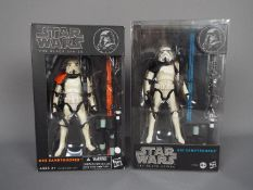 """Star Wars, Hasbro - Two boxed Hasbro Star Wars 'The Black Series' 6"""" action figures,"""
