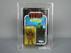 "Star Wars, Kenner - A graded Kenner 1983 Star Wars ROTJ 'Gamorrean Guard' 3 3/4"" action figure."