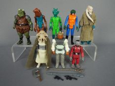 Star Wars - Eight unboxed action figures to include Snaggletooth ©GMFGI 1978 Hong Kong,