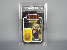 Star Wars, Kenner - A rare graded Canadian Issue Kenner 1983 Star Wars ROTJ 'Wicket W.