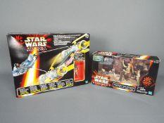 Star Wars, Hasbro - Two boxed Star Wars Hasbro Episode 1 vehicles / playsets.